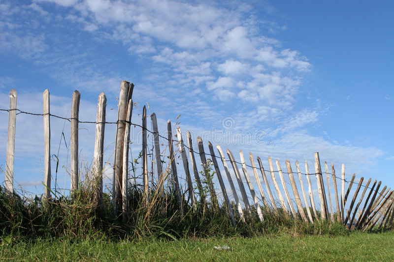 Download The Fence stock image. Image of wobbly, grass, field, suburban - 186137