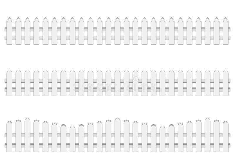 Fence. Isolated on white background vector illustration