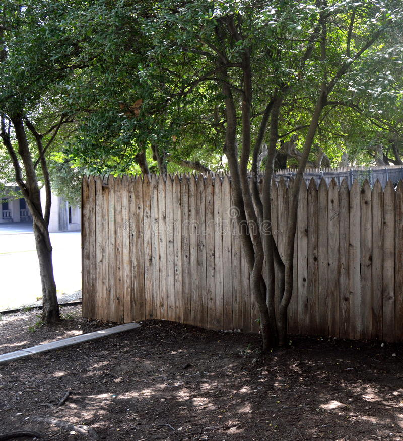 Download The Fence Atop The Grassy Knoll Stock Photo - Image: 80143850