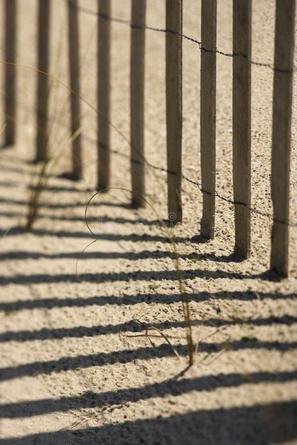 Fence on Bald Head Island, North Carolina. stock photos