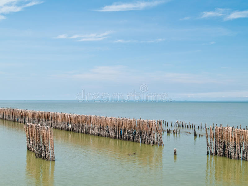 Download Fence bamboo row stock image. Image of material, intercept - 14859179