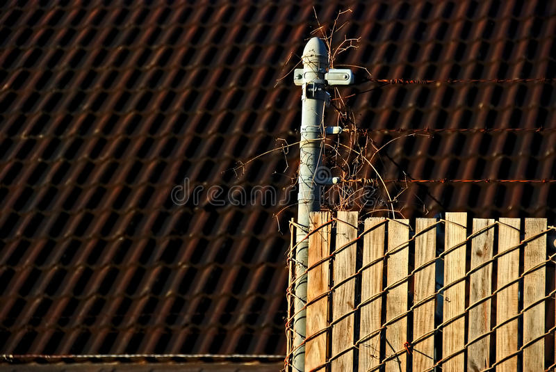 Fence with barb wires
