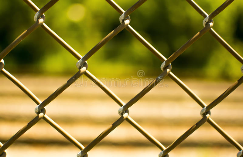 Fence with a blurred background stock photo