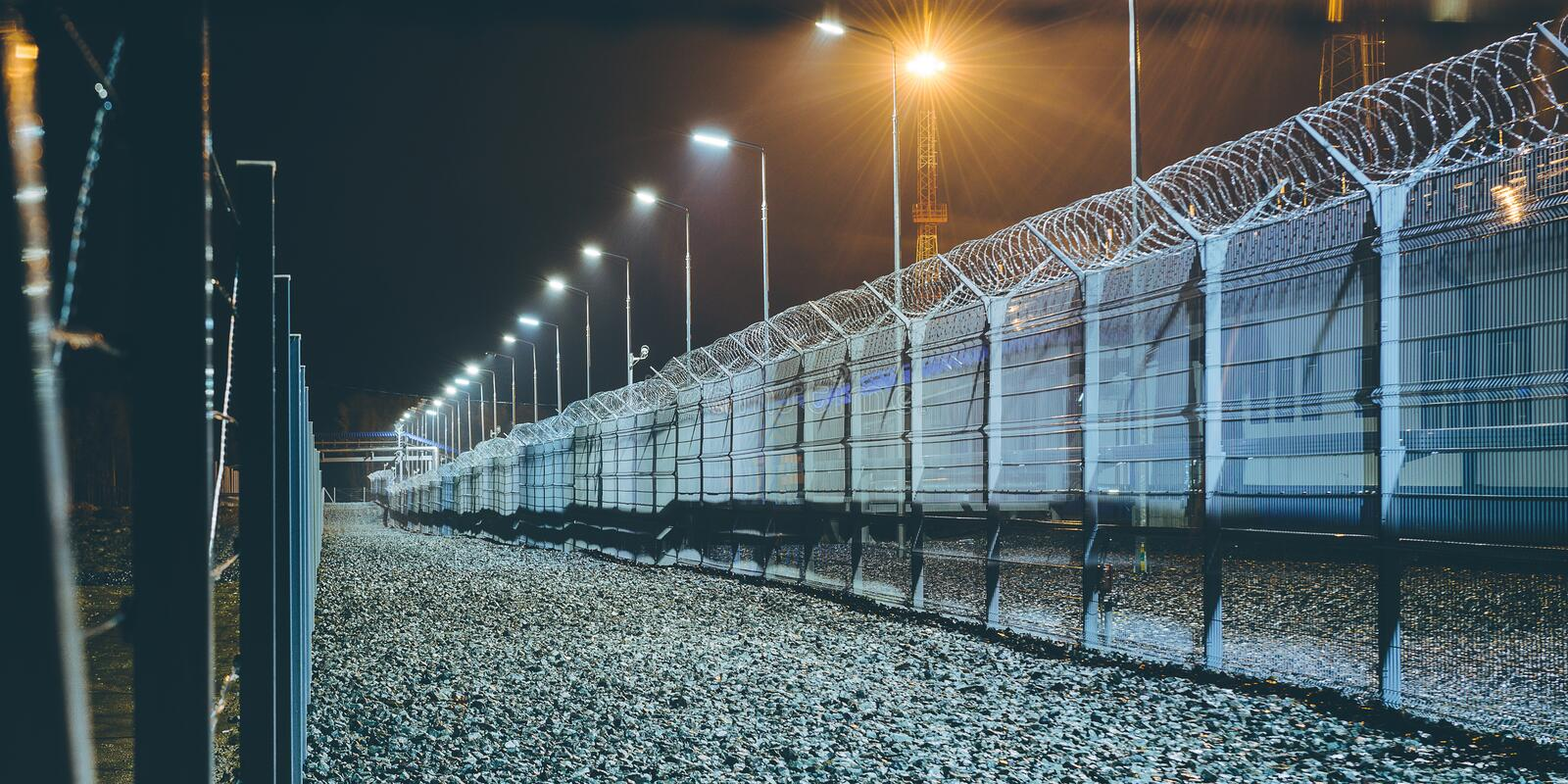 Fence boarder security royalty free stock photos