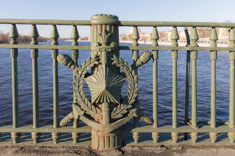 Fence of the bridge royalty free stock images