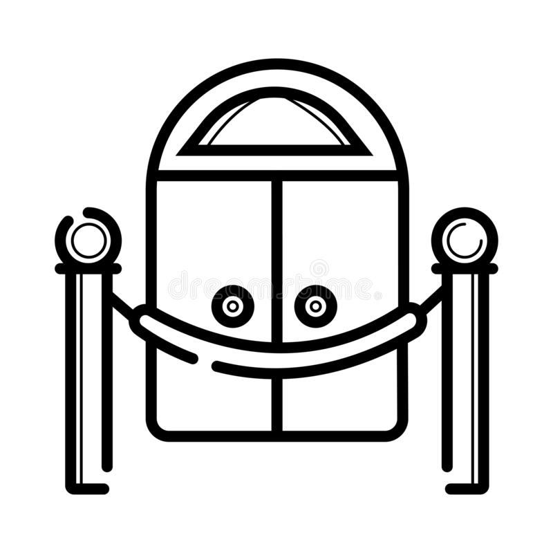 Fence with carpet icon royalty free illustration
