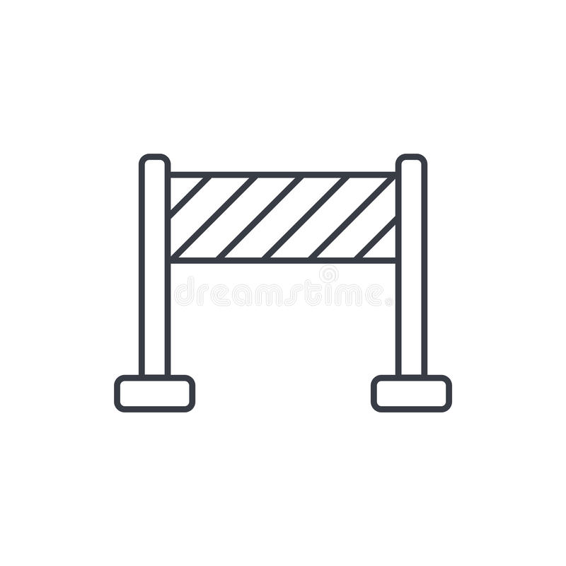 Fence construction thin line icon. Linear vector symbol royalty free illustration
