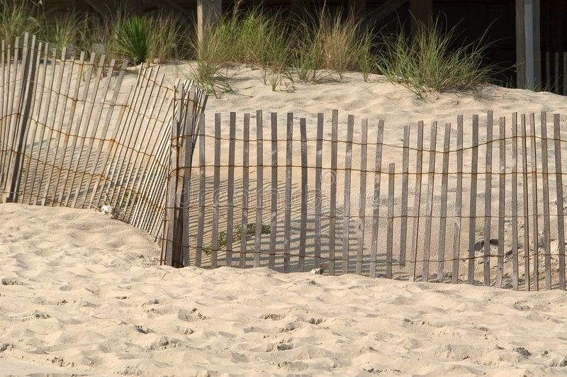 Download Fence in the Dunes stock photo. Image of dunes, fence, ocean - 15290