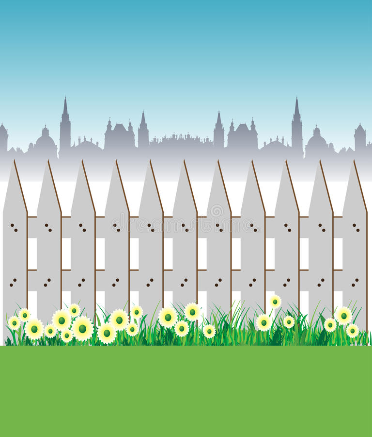 Download Fence and flowers stock vector. Image of concept, nature - 19276787