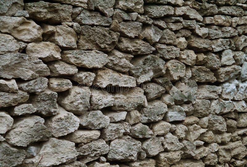 fence of limestone stock photo