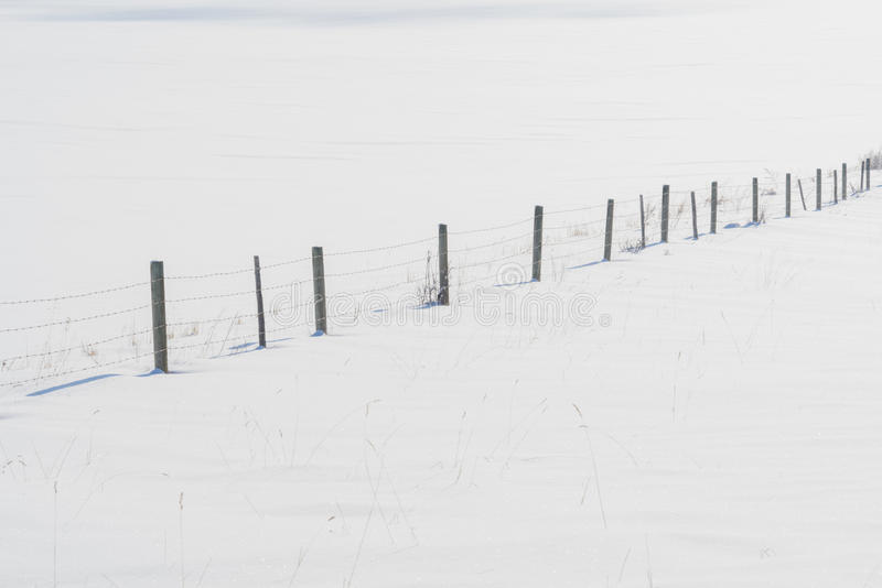 Download Fence Line in Snow stock photo. Image of lines, outdoor - 67129634
