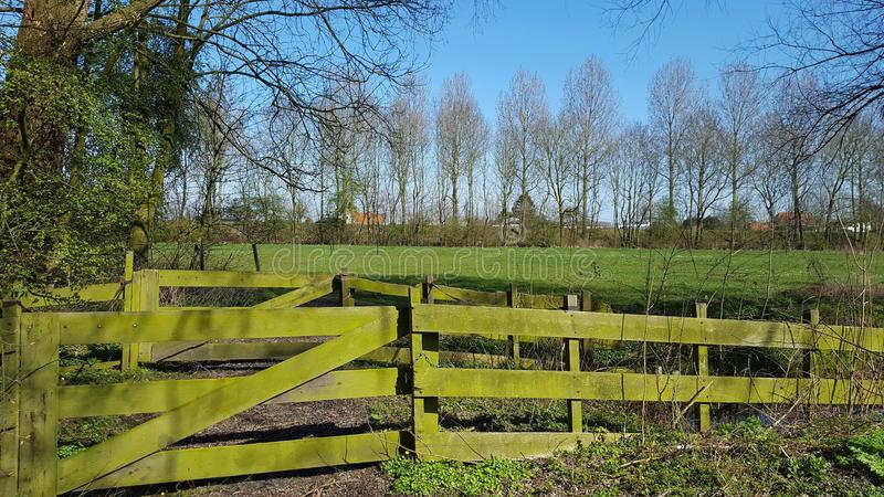 Fence and meadow stock photos