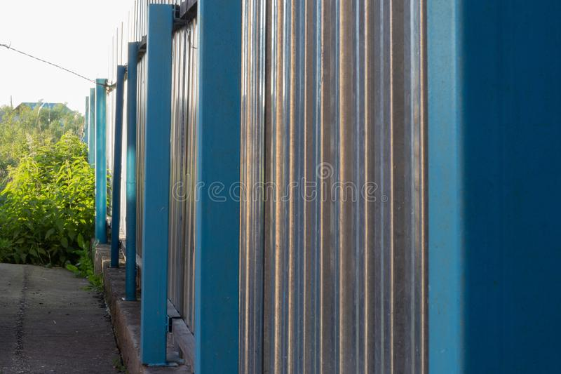 metal fence royalty free stock image