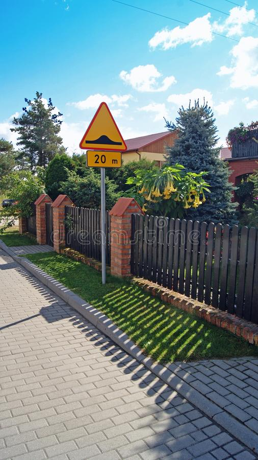 Download Fence near houses. stock photo. Image of classical, europe - 27139220