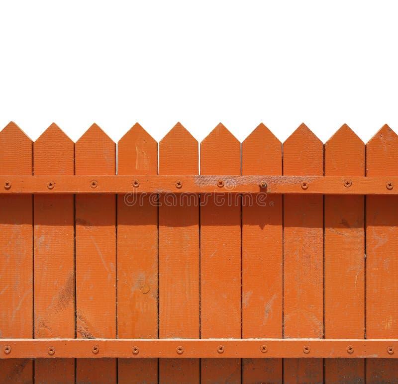 Fence. An orange fence isolated on white background stock images