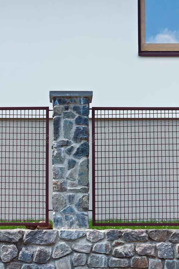 Fence of the private house stock photography