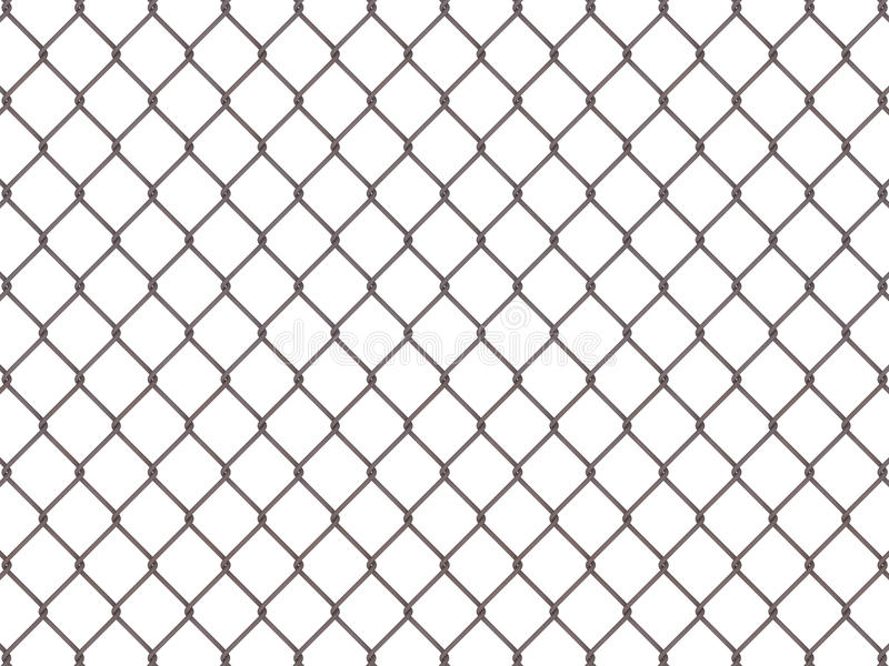 Fence from rusty mesh royalty free illustration