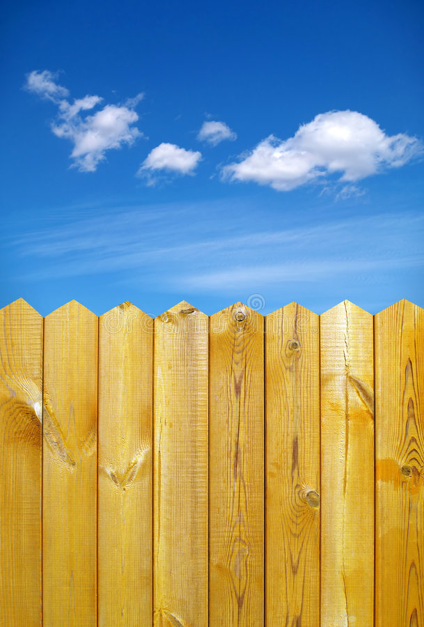 Fence and sky royalty free stock image