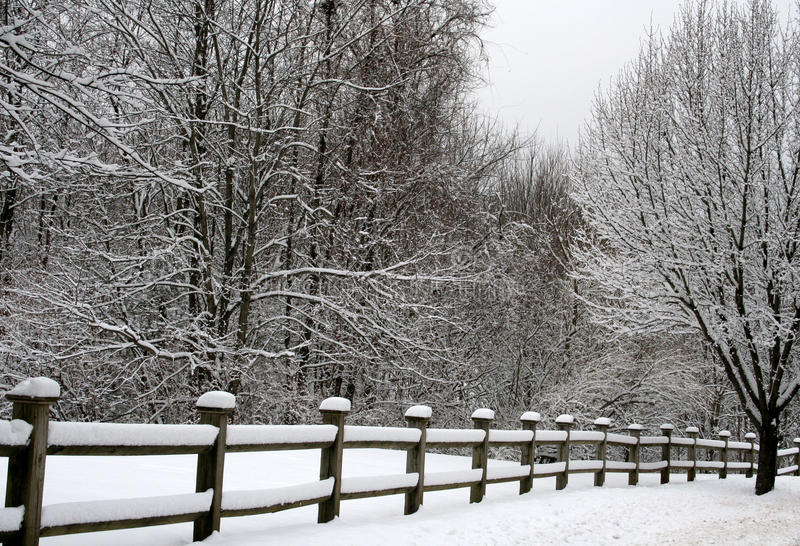 Download Fence In Snow Stock Image - Image: 13047301