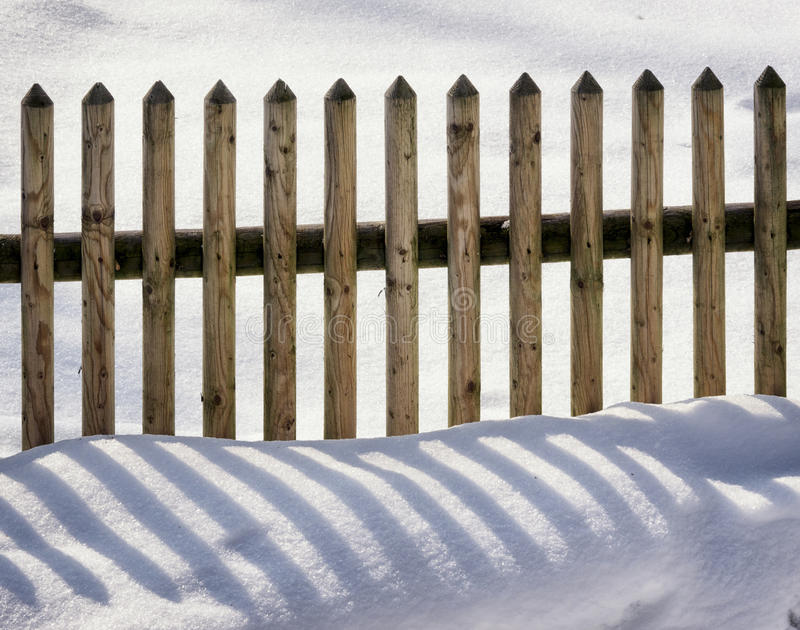 Download Fence and snow stock photo. Image of part, winter, close - 35913540