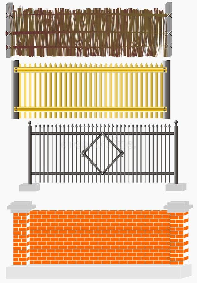 Fence versions stock illustration