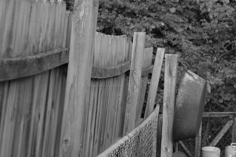 Fence with Washtub royalty free stock photo