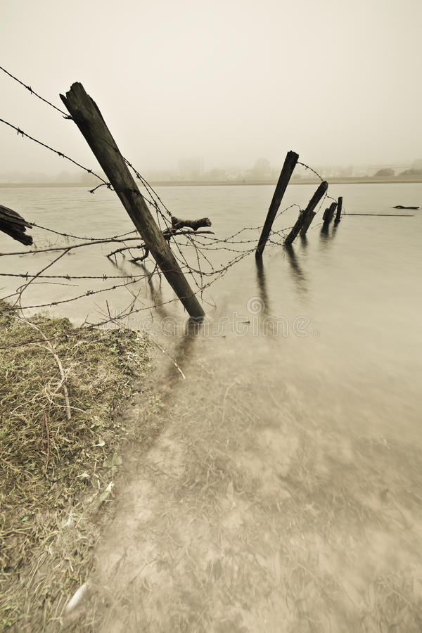 Download Fence in water stock image. Image of flowing, rhine, mist - 23626963