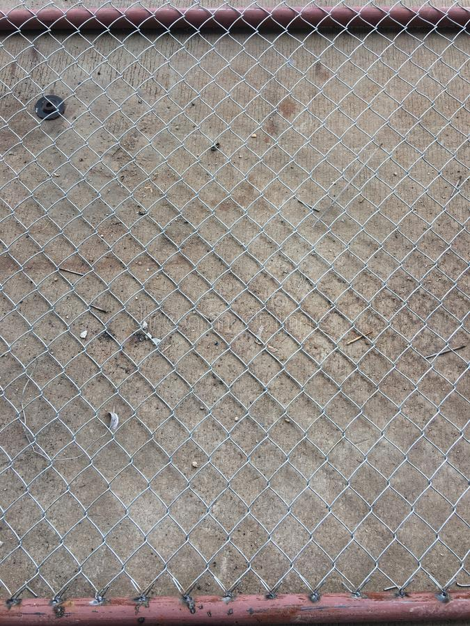 Fence wire on cement floor Walkway royalty free stock photography