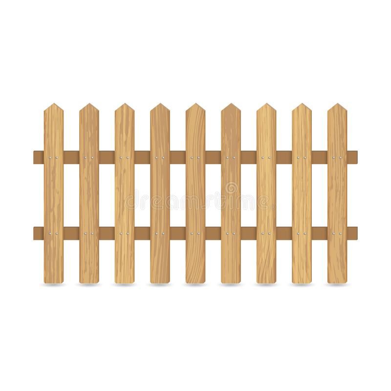 Fence of wooden boards vector illustration