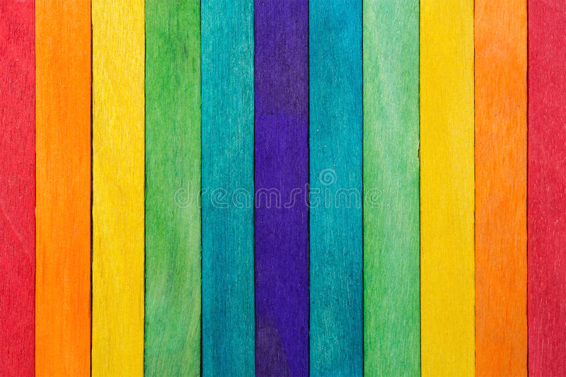 Fence wooden rainbow colorful for wooden textured background use stock photography