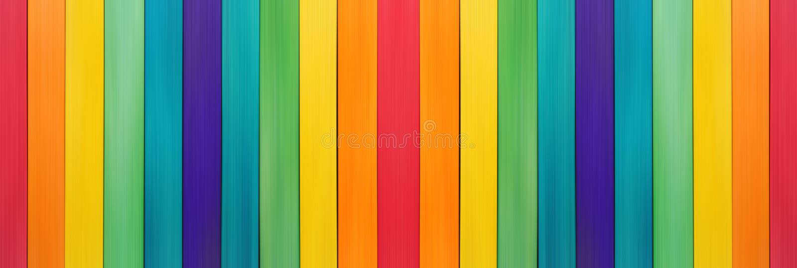 Fence wooden rainbow colorful for wooden textured royalty free stock photography