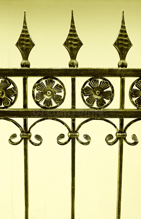 Download Fence of wrought iron stock image. Image of antiques, decorated - 8014443