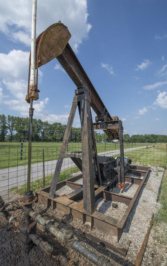 Oil well pump stock images