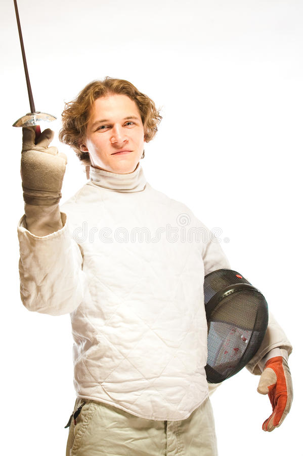 Fencer royalty free stock photography