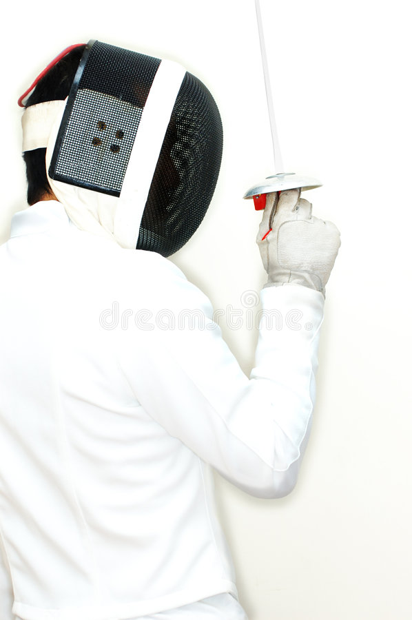Fencer 5 royalty free stock photo