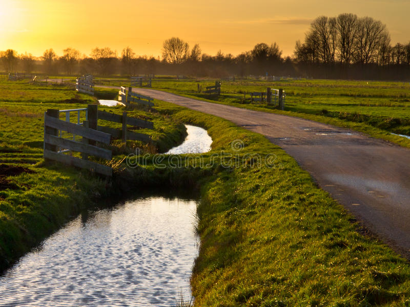 Download Fences and dams stock photo. Image of rural, zuidlaardermeer - 26942342