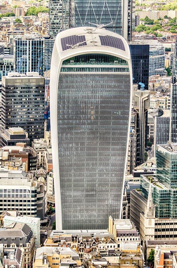 20 Fenchurch-Straat, de Toren van de akawalkie-talkie, Londen stock fotografie