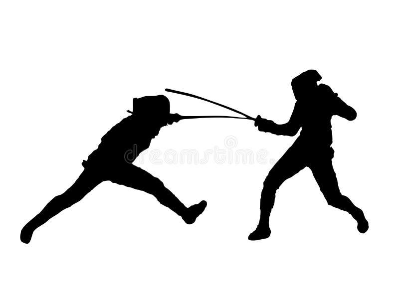 Download Fencing stock illustration. Image of illustration, duel - 14686848