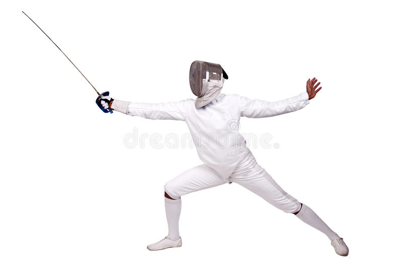 Download Fencing stock photo. Image of fencer, fight, isolated - 25999336