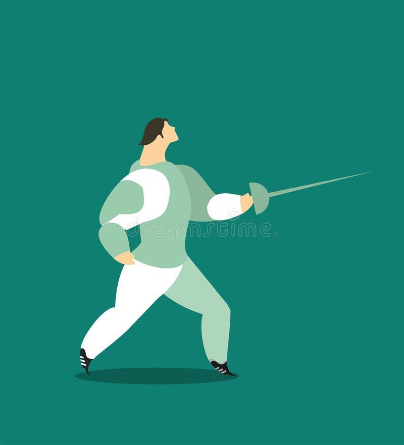 fencing royalty ilustracja