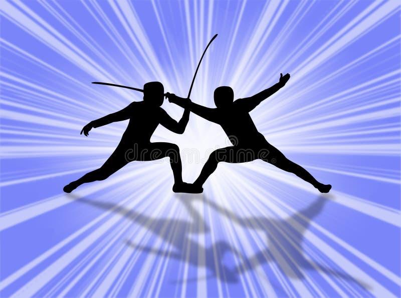 Fencing royalty free illustration