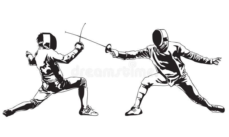 Fencing vector illustration