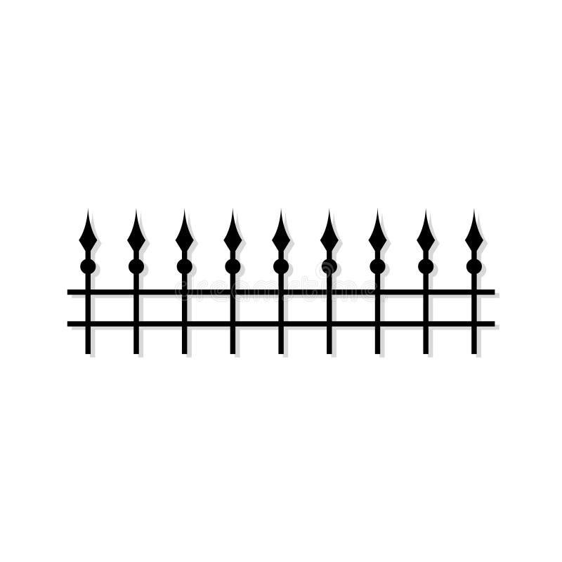 Fencing isolated, Iron gate logo stock image