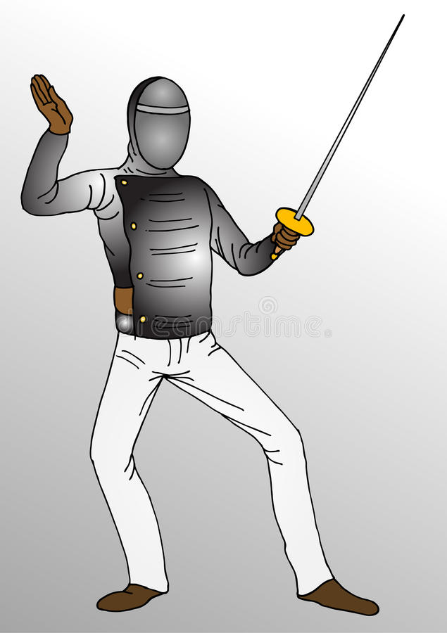 Download Fencing  player stock illustration. Image of fitness - 10797399