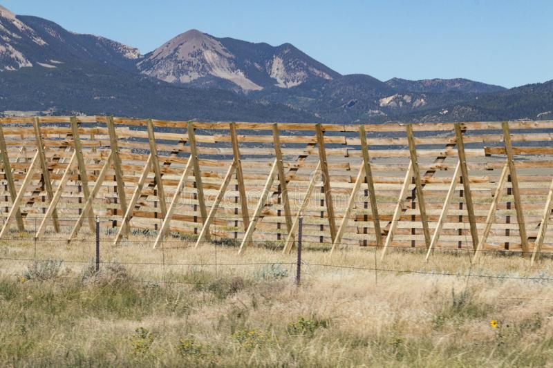 Fencing. A section of wooden fencing near the southern portion of the Rocky Mountains royalty free stock images