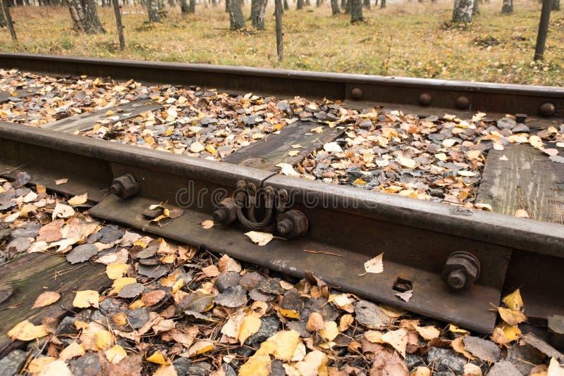 Fenda railway velha foto de stock royalty free