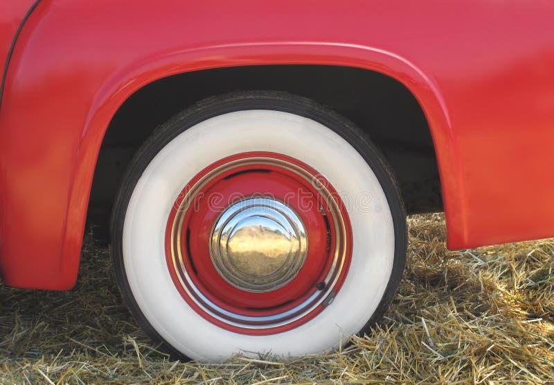 fender czerwony opony whitewall obrazy stock