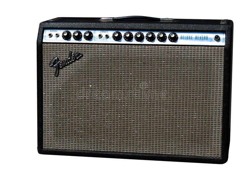 Fender Guitar Amp. Original Fender Guitar amp isolated on white royalty free stock photo