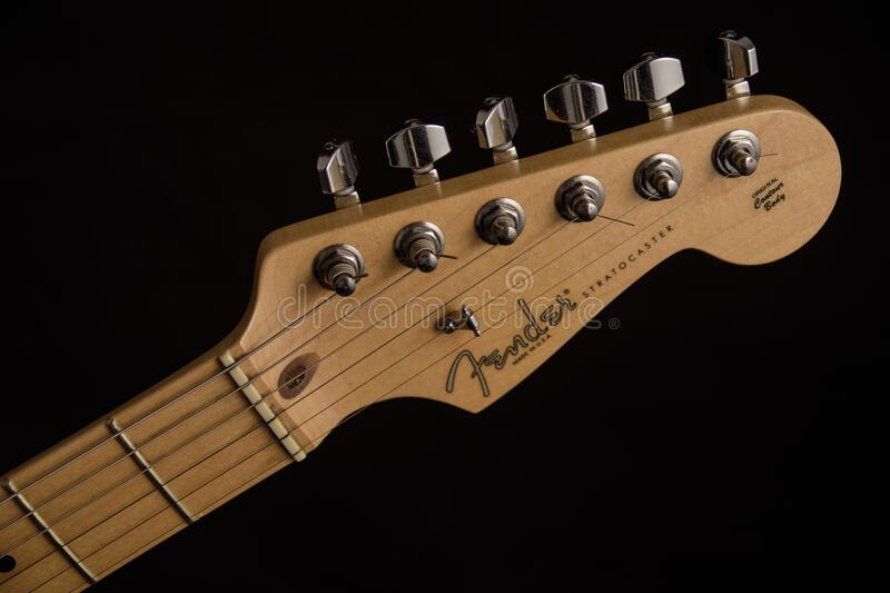 Fender Guitar Head Stock royalty free stock images