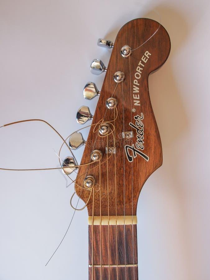 Fender guitar royalty free stock image